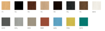 Crissiveg Wood Colours DeFrae Contract Furniture