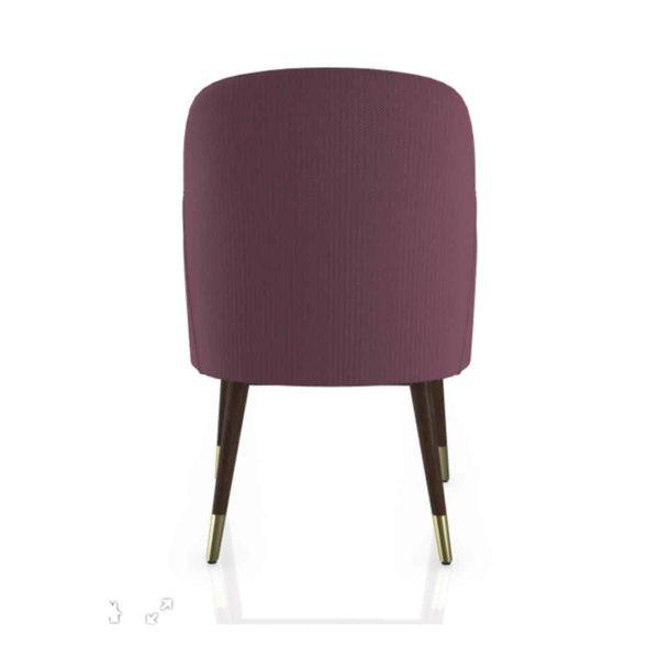 Da Vinci Armchair 02 100 DeFrae Contract Furniture Back Brass Shoes Feet