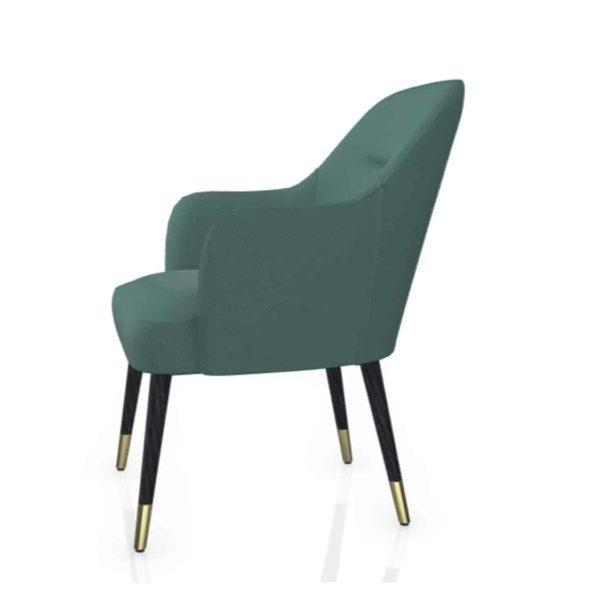 Da Vinci Armchair 02 100 DeFrae Contract Furniture Brass Shoes Feet