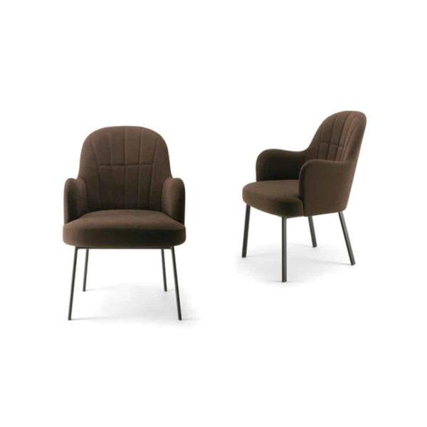 Da Vinci Armchair 02 112 DeFrae Contract Furniture Natural Legs