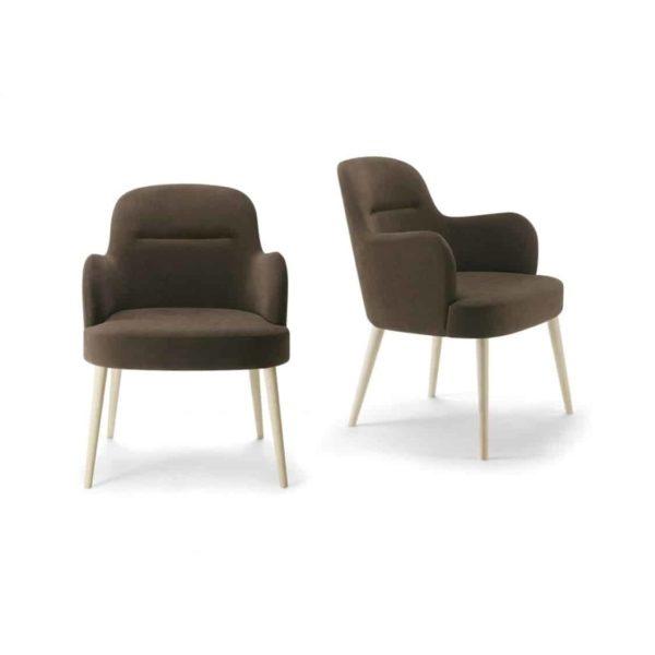 Da Vinci Armchair 02 110 DeFrae Contract Furniture Natural Legs