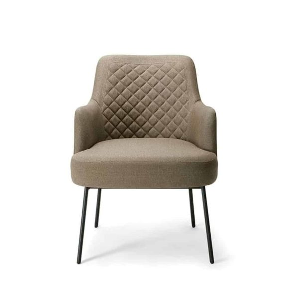 Da Vinci Armchair 03 100 DeFrae Contract Furniture Quilted Back