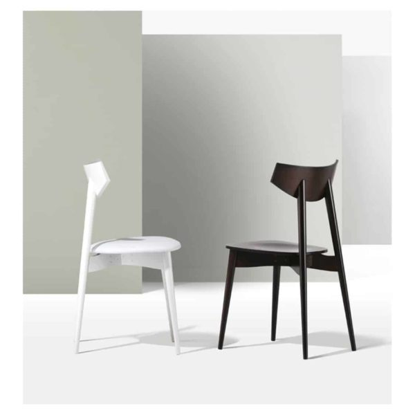 Day Chair Dayana DeFrae Contract Furniture Walnut And White In situ head on 2