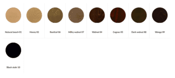 DeFrae Contract Furniture Standard Wood Stains