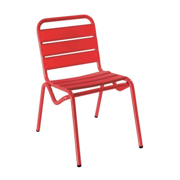 Decks Outdoor Side Chair DeFrae Contract Furniture Red
