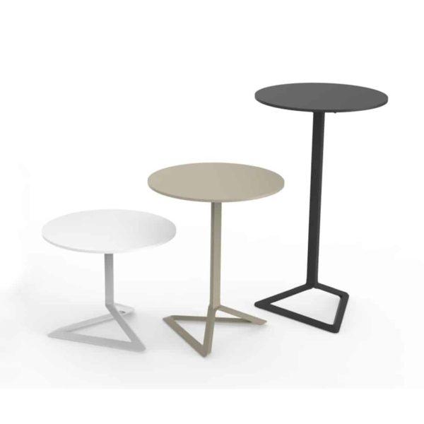Delta Flip Top Table Vondom DeFrae Contract Furniture Coffee Dining Poseur Height