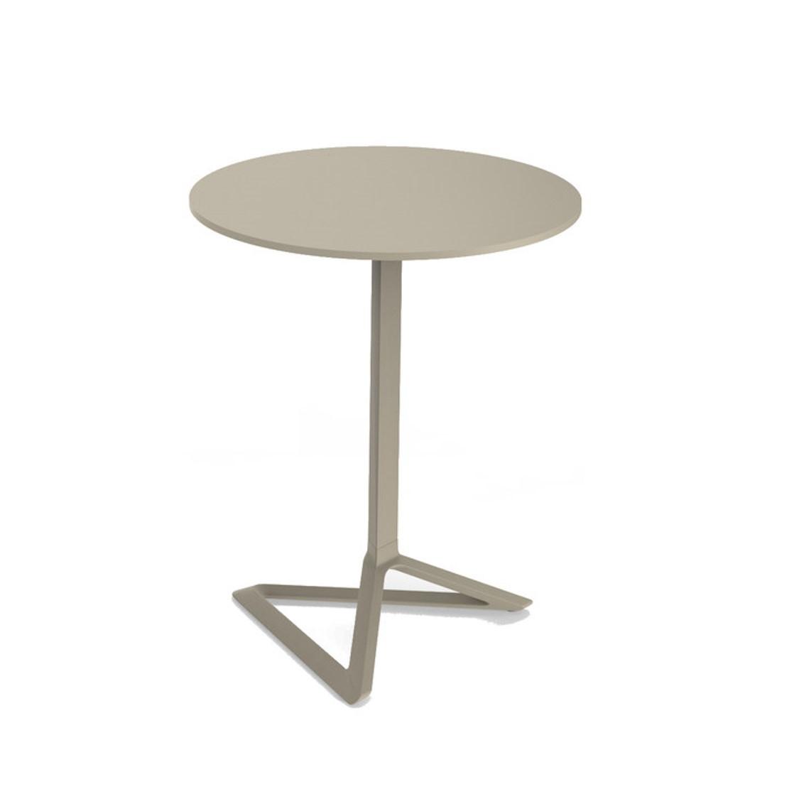 Delta Flip Top Table Vondom DeFrae Contract Furniture Taupe