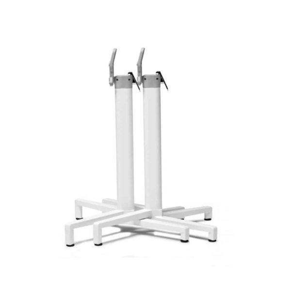 Domino Flip Top Table Base White
