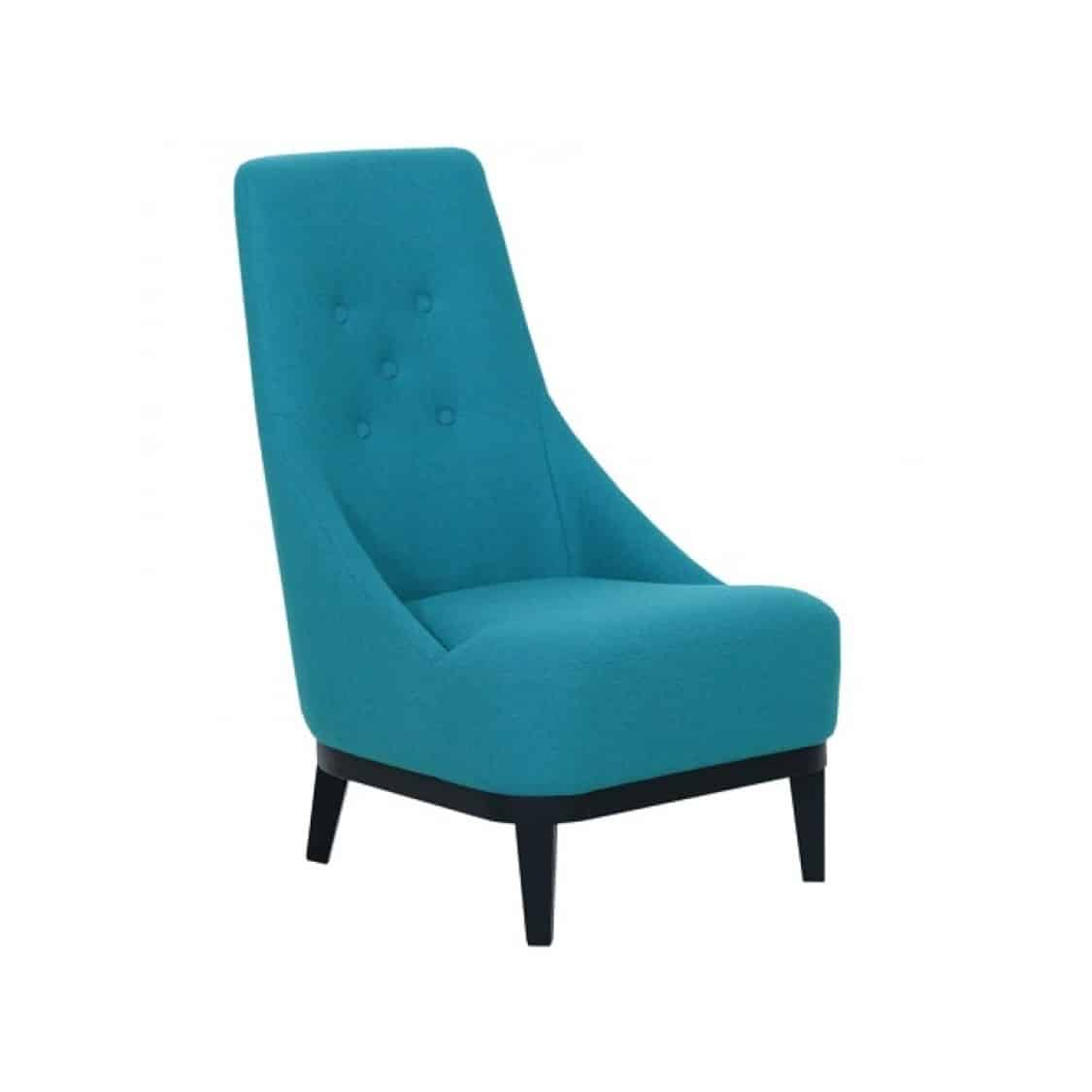 Donna Lounge Armchair high back Sits DeFrae Contract Furniture Blue Front