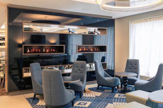 Hotel furniture by DeFrae Contract Furniture at the Mercure Hotel Edinburgh