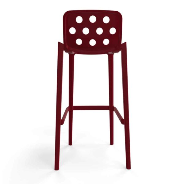 Dory Stackable Bar stool Isidoro Gaber at DeFrae Contrcat Furniture Bordeaux Red