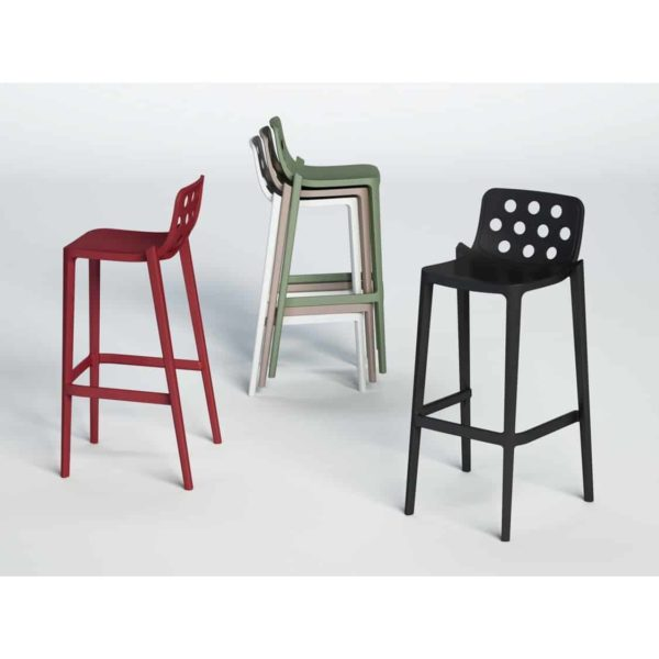Dory Stackable Bar stool Isidoro Gaber at DeFrae Contrcat Furniture Colours 2