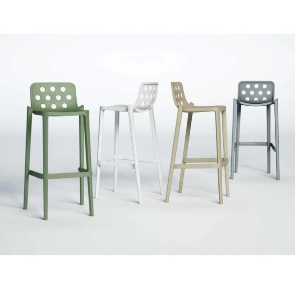 Dory Stackable Bar stool Isidoro Gaber at DeFrae Contrcat Furniture Colours