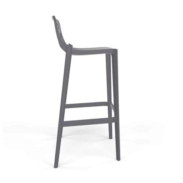 Dory Stackable Bar stool Isidoro Gaber at DeFrae Contrcat Furniture Grey