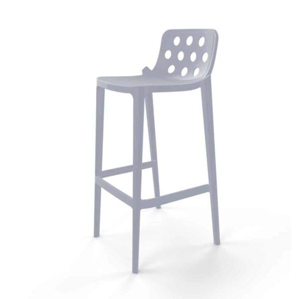 Dory Stackable Bar stool Isidoro Gaber at DeFrae Contrcat Furniture Pearl Grey