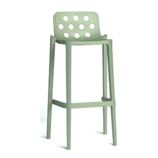 Dory Stackable Bar stool Isidoro Gaber at DeFrae Contrcat Furniture Sage Green