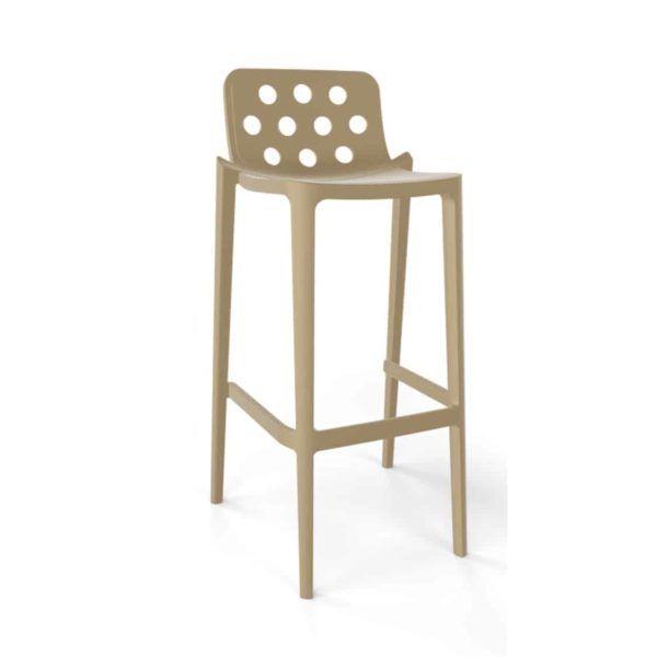 Dory Stackable Bar stool Isidoro Gaber at DeFrae Contrcat Furniture Turtledove