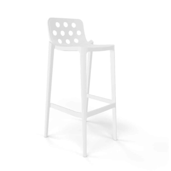 Dory Stackable Bar stool Isidoro Gaber at DeFrae Contrcat Furniture White