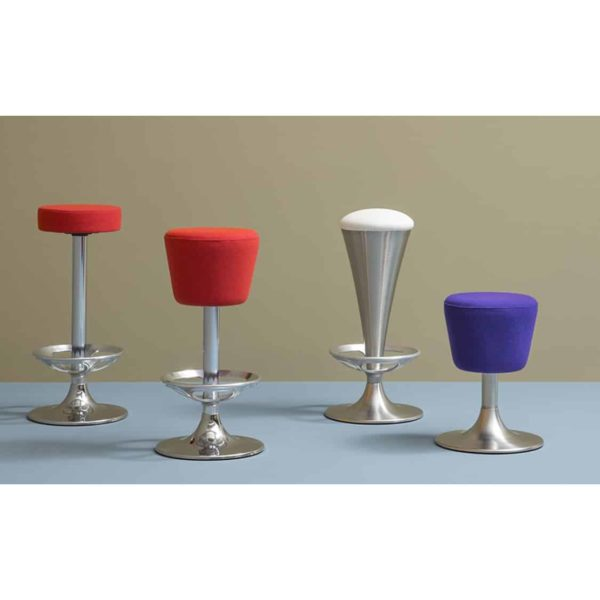 Dream Bar Stool Pedrali ar DeFrae Contract Furniture Colours Red White and Blue
