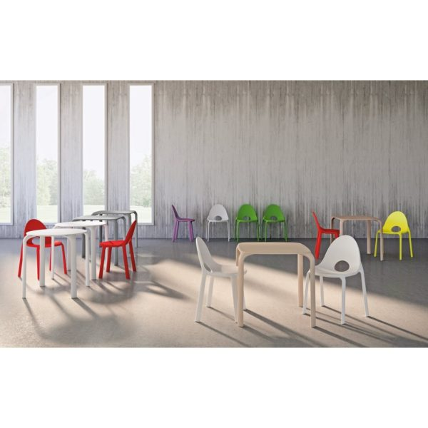 Drop Table and Chairs Infiniti Design at DeFrae Stackable