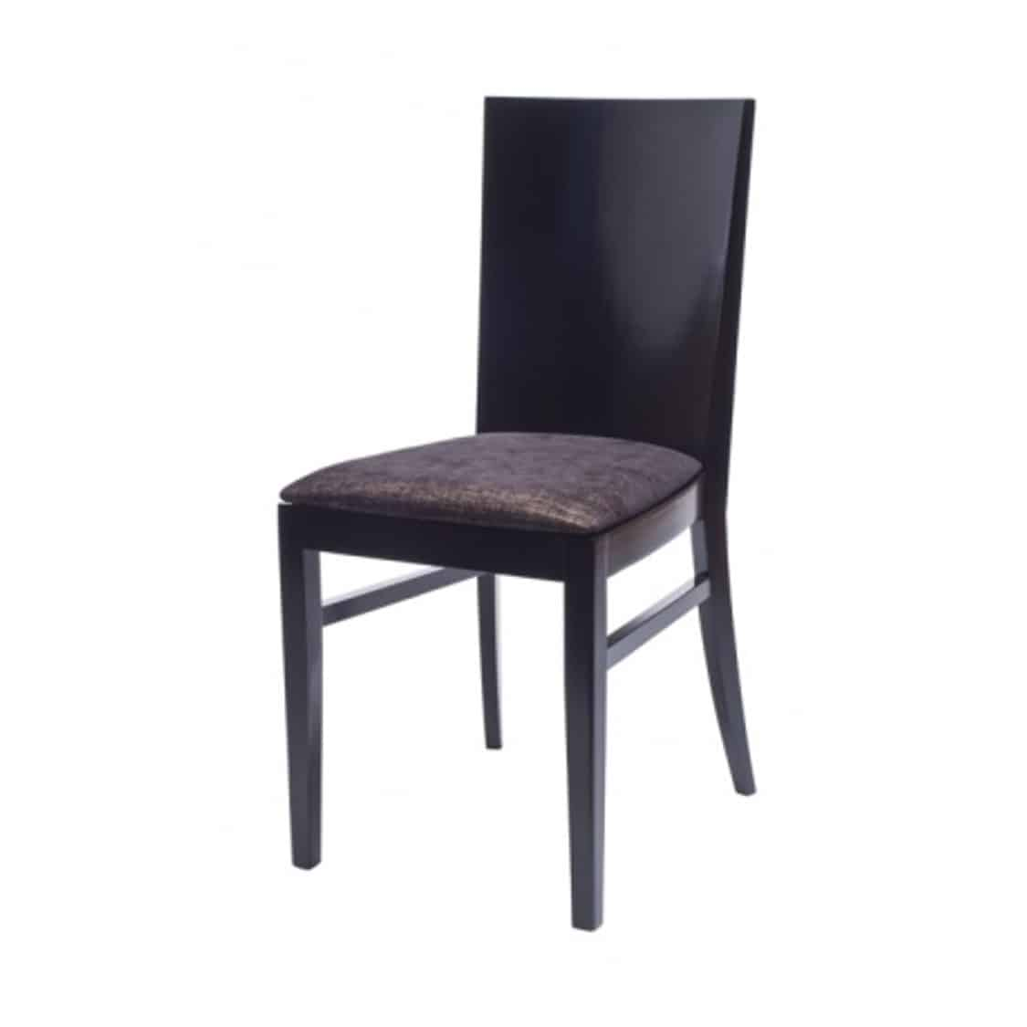 Emily Side Chair Dining Chair Restaurant chair black frame with black faux leather