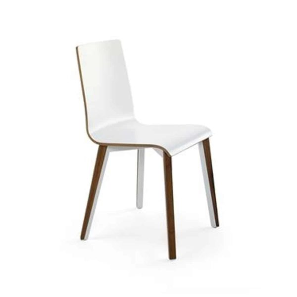 Etta Side Chair Tony Cignini DeFrae Contract Furniture White