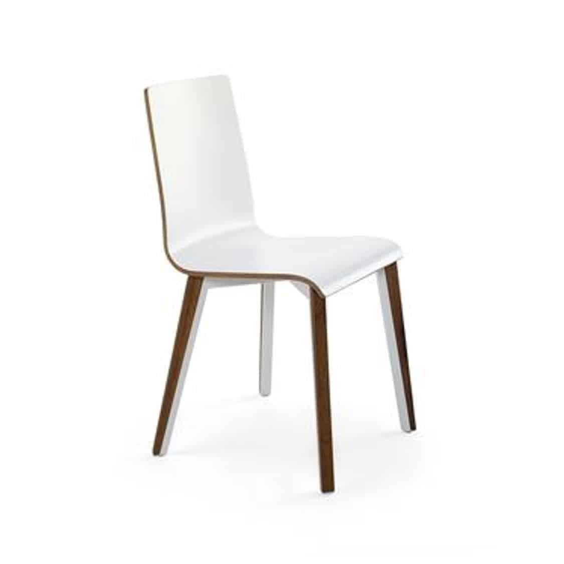 Etta Side Chair Tony Cignini DeFrae Contract Furniture White