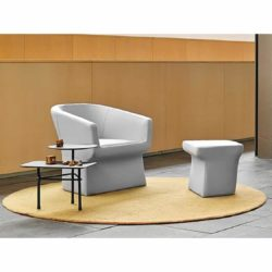 Fedele Armchair by Viccarbe at DeFrae Contract Furniture in situ