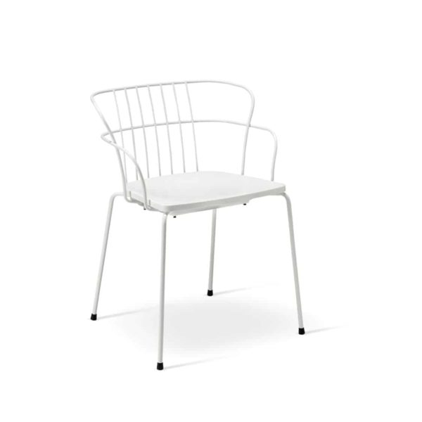 Flint Armchair Et Al available from DeFrae Contract Furniture Upholstered Seat White