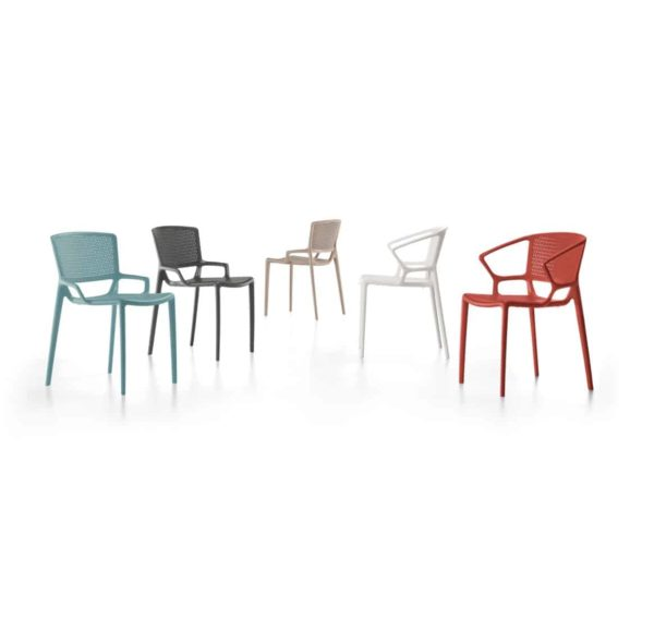 Flora Side Chair Range Outdoor Fiorellina Infiniti Design DeFrae Red