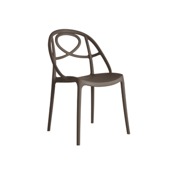 Galaxy Etoile P Side Chair DeFrae Contract Furniture Brown