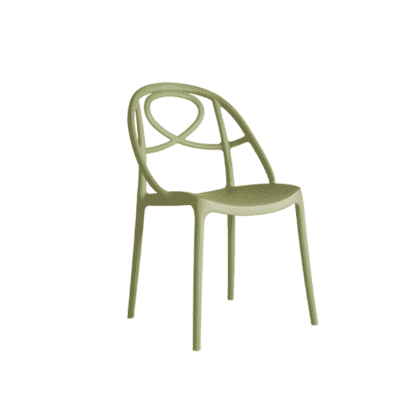 Galaxy Etoile P Side Chair DeFrae Contract Furniture Green