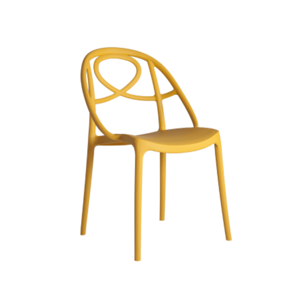 Galaxy Etoile P Side Chair DeFrae Contract Furniture Mustard Yellow