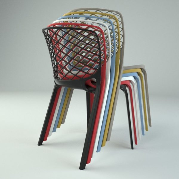 Gamera SIde Chair Stackable Colours at DeFrae Contract Furniture