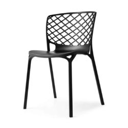 Gamera SIde Chair Stackable at DeFrae Contract Furniture Black