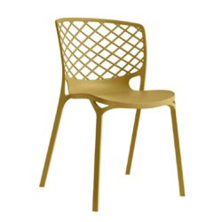 Gamera SIde Chair Stackable at DeFrae Contract Furniture Mustard