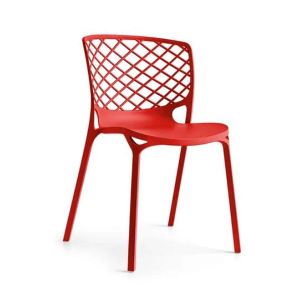 Gamera SIde Chair Stackable at DeFrae Contract Furniture Red