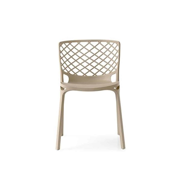 Gamera SIde Chair Stackable at DeFrae Contract Furniture Taupe