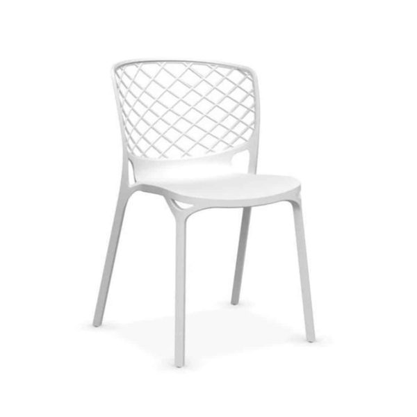 Gamera SIde Chair Stackable at DeFrae Contract Furniture White
