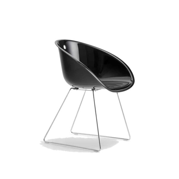 Gliss 921 Armchair Sled Base Pedrali at DeFrae Contract Furniture Black