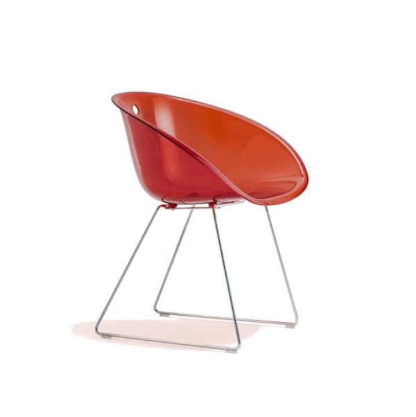 Gliss 921 Armchair Sled Base Pedrali at DeFrae Contract Furniture Red
