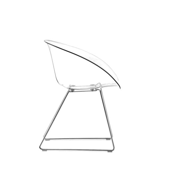 Gliss 921 Armchair Sled Base Pedrali at DeFrae Contract Furniture Transparent