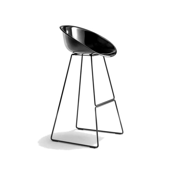 Gliss Bar Stool 906 Black Sled Base Pedrali at DeFrae Contract Furniture