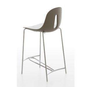 The Gotham steel bar stool is slender and elegant with a comfortable pleasing design. The Gotham stool adapts itself to every requirement for different areas - ideal for bars, restaurants and hotels.