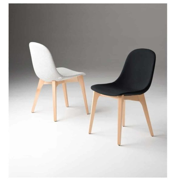 Gotham WS Side Chair DeFrae Contract Furniture Black And White