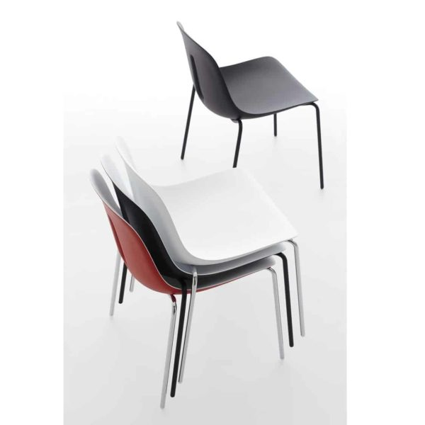 Gothan Steel Side Chair DeFrae Contract Furniture Stackable