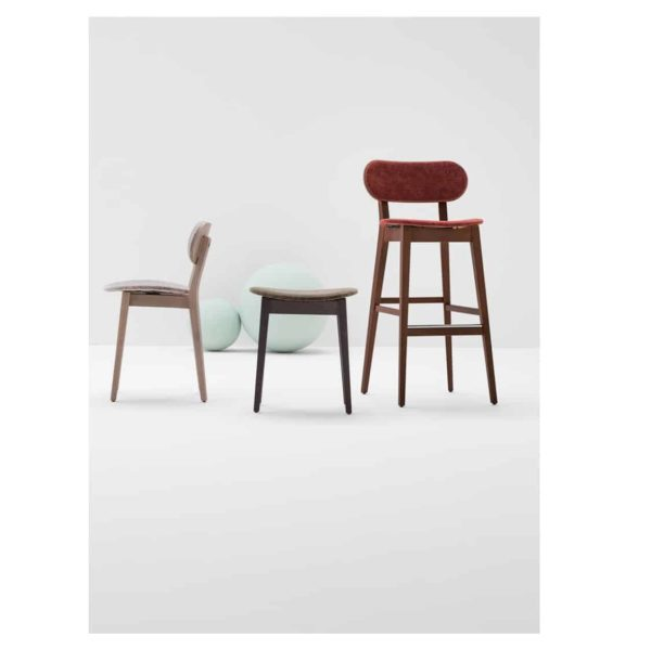 Grady Bar Stool Gradisca Billiani Wooden DeFrae Contract Furniture Range