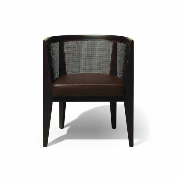 The Grand hotel tub chair is an elegant chair forming part of a family of seats which also include a fine-dining side chair, armchair and bar stool.