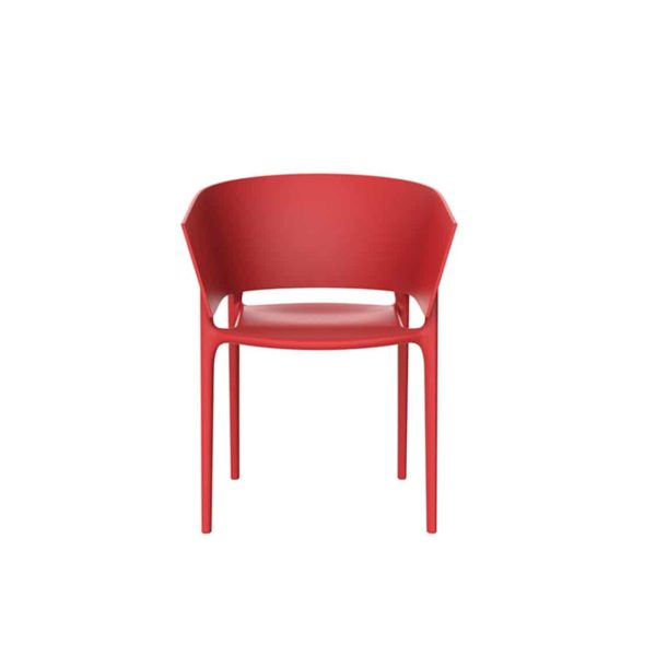 Greve Armchair Vondom Africa Stackable At DeFrae Contract Furniture Red