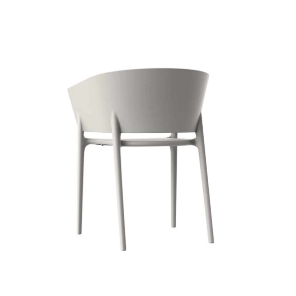 Greve Armchair Vondom Africa Stackable At DeFrae Contract Furniture White Back